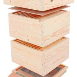 Bijenhof simplex kast : ramen bedraad