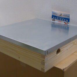 bijenhof simplex dak met verzinkte plaat