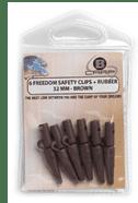 B-Carp Freedom Safety Lead Clip 6 pcs – Brown