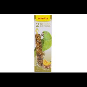 Benelux sticks papegaai :  noten en banaan