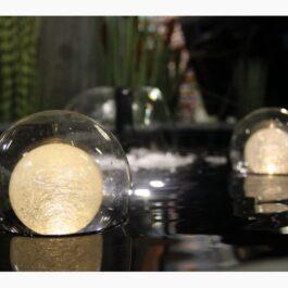 Floating glass light