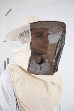 bijenhof  katoenen sluier met hoed