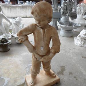 Geel keramiek jongen