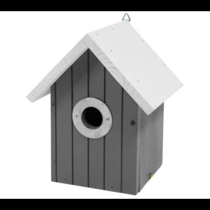 Vogelnestkastje wit dak zwart
