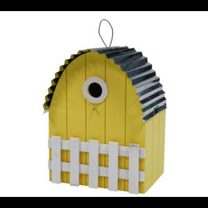 Nestkastje gebogen dak lichtgeel