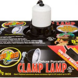 Porcelain clamp lamp max 60W 14 cm