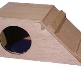 Cavia slaaphok hout schuin dak