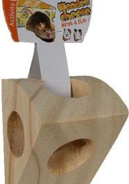 Stuk kaas in hout
