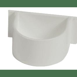 Papegaai eetpot plastiek wit