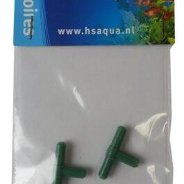T-Stuk plastic groen 4-6 mm 2 st.