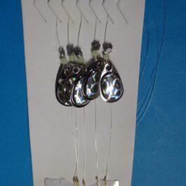 5 Trout spinner blades zilver