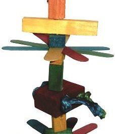Houten speelgoed 7 voor parkiet 32 cm