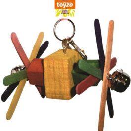 Klein speelgoed hout 11 cm + 2 bellen
