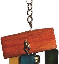 Klein speelgoed hout 14 cm + 4 bellen