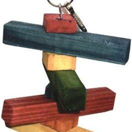 Klein speelgoed hout 14 cm + bel